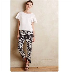 Anthropologie Elevenses Wildflower Joggers Small